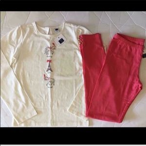 NEW JANIE and JACK CORAL CAROUSEL LEGGING OUTFIT